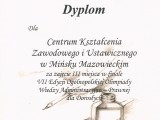 III miejsce w Ogólnopolskiej Olimpiadzie Wiedzy Administracyjno-Prawnej dla Dorosłych