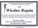 Pożegnanie Wiesława Rogali