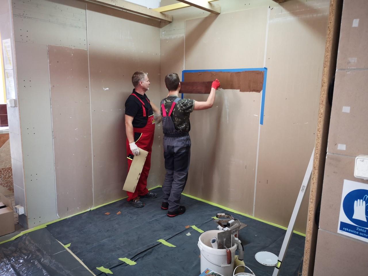 Szkolenie dla uczniów klasy II i I monter zabudowy i robót wykończeniowych  w budownictwie   CKZiU